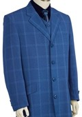 SKU#HY8160 Mens Stylish Zoot Suit Royal $189