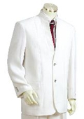 SKU#JE1742 Men's Two Button Suits White $175