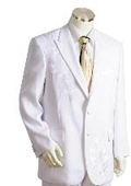 SKU#LK0215 Men's Two Button Suits White $175