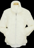 SKU#GP5437 Men's White Faux Fur Bomber Jacket $199