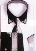 SKU#GB4322 Men's White French Cuff Shirts with Cuff Links $65