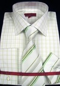 Mint Shirt Tie and Hankie Set $65