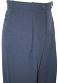 SKU#WE1393 Navy Blue Wide Leg Slacks $59