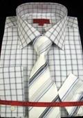 Navy Shirt Tie and Hankie Set $65