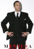 SKU# 887 No Pleated Flat Front Pants With 3 Buttons Solid Black Suits Super 150's Wool $239