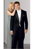SKU#MK2021 Peak Tailcoat Black - Matching Trousers Available - 100% Wool $169