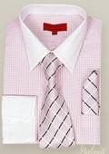 Pink Shirt Tie and Hankie Set $65