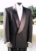 VALENTI~$1800 premeier quality italian fabric Design one button Double Breasted shawl collar tuxedo by Leonardo Valenti $375