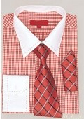 SKU#YM1943 Red Shirt Tie and Hankie Set $65