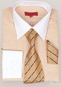 Rust Shirt Tie and Hankie Set $65