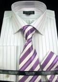 Shirt Tie and Hankie Set - Lavender $65