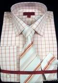 Shirt Tie and Hankie Set - Rust $65