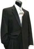 SKU# 1BX-29 simple Wool Worsted Flat Front Pants Wool  One Button Notch Tuxedo Jacket $199