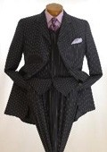 SKU# ZD-22 Jet Black & Chalk White Pinstripe Double Breasted Comes in 3 Colors $149