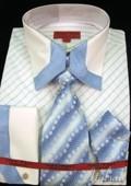 Sky Blue Shirt Tie and Hankie Set $65