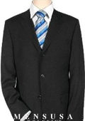 Solid Black Quality Suit Separates, Total Comfort Any Size Jacket&Any Size Pants $239