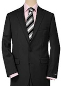 Solid Black Quality Suit Separates, Total Comfort Any Size Jacket&Any Size Pants $189