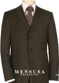 Solid Brown Quality Suit Separates, Total Comfort Any Size Jacket&Any Size Pants $239