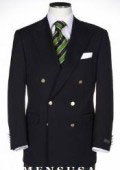 SKU# BPY334 t Quality Solid Black Double Breasted Blazer With Best Cut & Fabric Mens suit $179