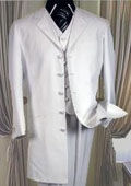 SKU#MUT758TA three piece light weight zoot suit 38' long jacket notched Laple $149