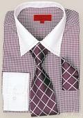 Violet Shirt Tie and Hankie Set $65