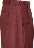 SKU#FE0028 Wine Shark Skin Wide Leg Slacks $59