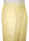 SKU#AL3822 Yellow 22 inch Wide Leg Slacks $59
