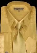 Yellow Satin Shirt Tie and Hankie Set $65
