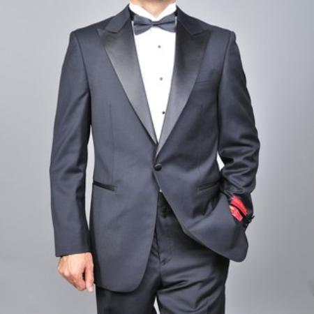 SKU#KA1478 Authentic Mantoni Brand  Mens Wool One-button Tuxedo $175