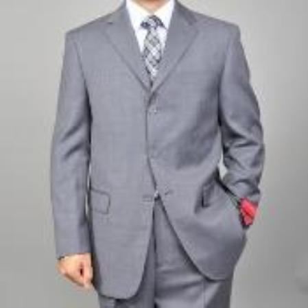 SKU#KA1450 Mens Vested Wool Suit $165