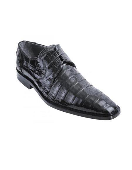 SKU#KA1517 Black Genuine All-Over Crocodile Belly Shoes $389