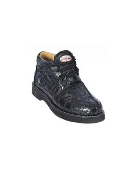 Gator Skin Mens Casual Belvedere Mazlan Black Shoes~Genuine Ostrich crocodile Skin~World Best Alliga