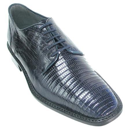 SKU#KA7854 Belvedere Mens Navy Genuine Lizard $305