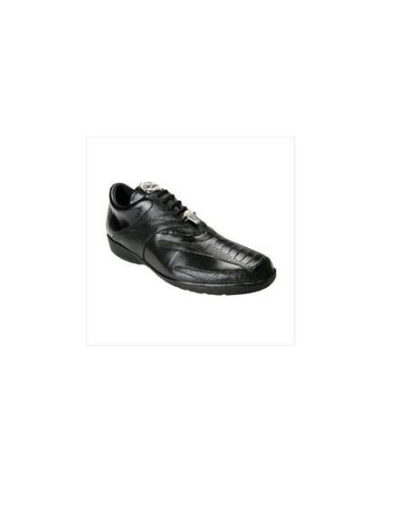 SKU#KA5055 Belvedere Mens Bene Sneaker in Black $180