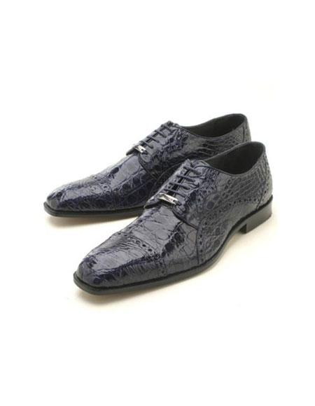 SKU#KA2341 Navy caiman ~ alligator Oxford $439