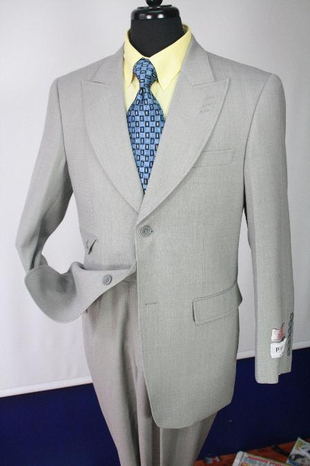 SKU#KA1124 Mens Executive 100% Wool Suit Collection - Wide Leg Pants $750