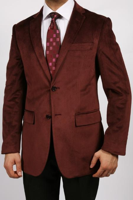 Men's Vintage Style Suits, Classic Suits Burgundy Luxurious Velvet Highlights $139.00 AT vintagedancer.com