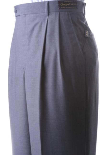 Retro Clothing for Men | Vintage Men's Fashion Mens Supers Extra Fine Dress Pants Grey $49.00 AT vintagedancer.com