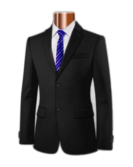 SKU#KA1199 Mens Superior 100s Micro Polyester Blazer (Center Vent) $175
