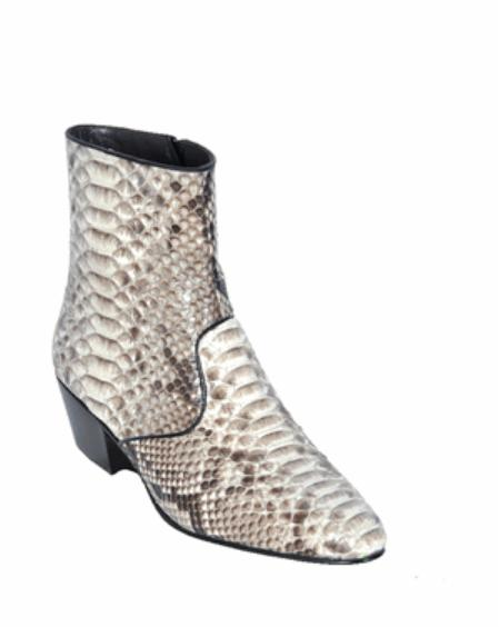 SKU#KA11204 Los Altos Natural Python ~ Snake European Style Dress Boot