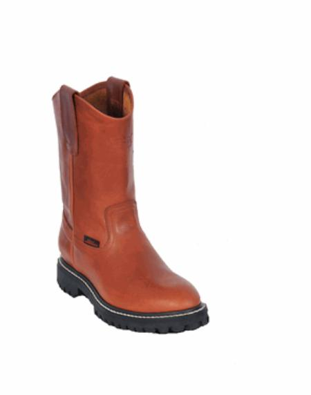 SKU#KA1115 Los Altos Grasso Nappa Work Boot with Full Lug Sole Honey $139