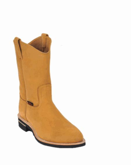 SKU#KA1118 Los Altos Nubuck Natural Edge Vibrum Sole Work Boots $139