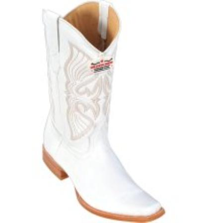 SKU#KA1124 Los Altos White Deer Cowboy Boots $207