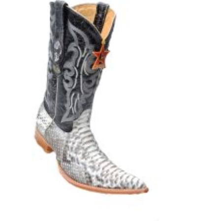 SKU#KA1126 Los Altos Natural Python 6X-Toe Cowboy Boots $267