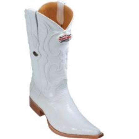 SKU#KA1133 Los Altos White Lizard Teju Cowboy Boots $287