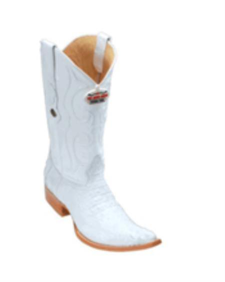 SKU#KS4 Los Altos White caiman ~ alligator Hornback Cowboy Boots
