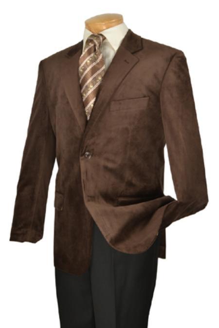 SKU#KA1178 Mens High Fashion Fine Slim Fit velvet sportcoat