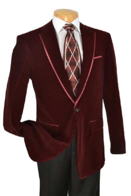 SKU#KA1185 Mens Edition High Fashion Fine Slim Fit velvet Jacket / Blazer / Jacket $149