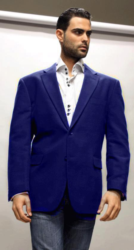 SKU#KA1240 Royal Sport Coat Its One of a Kind Super 150s For All Occasion Midnight Blue Fabric $139