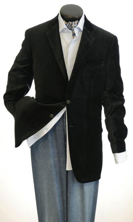 SKU#KA1243 Mens Velvet Sport Jacket Velvet Blazer